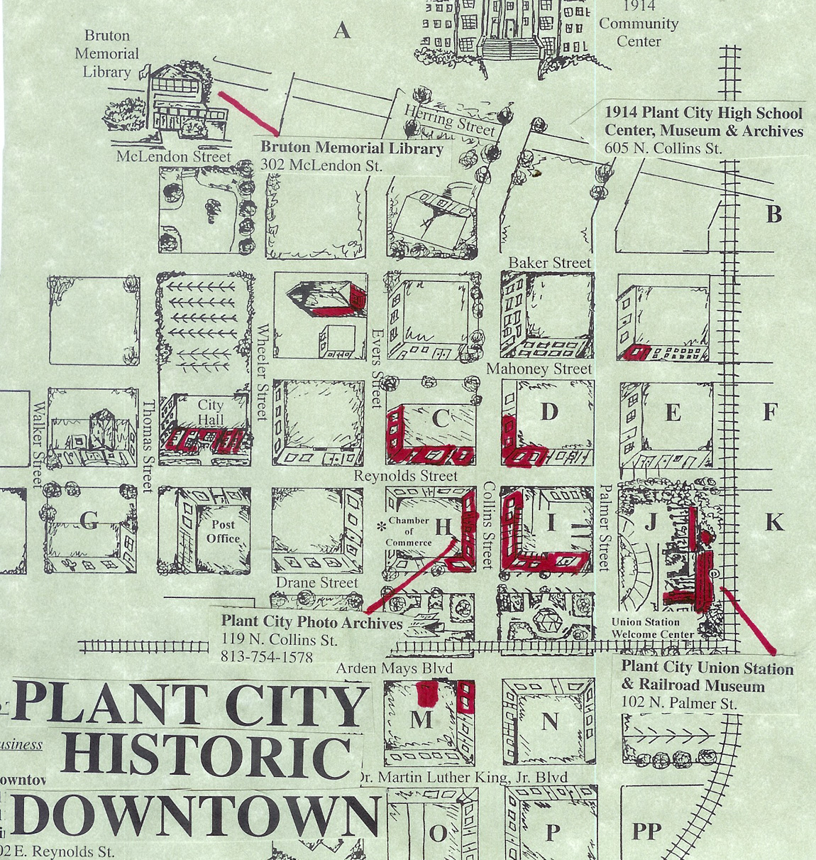 Plant City Downtown Map